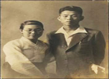 Hyon Kim's parents circa late 1940s. Kim's parents and siblings fled to North Korea from South Korea shortly after war broke out in 1950. Her father was later executed. (Photo courtesy Hyon Kim)