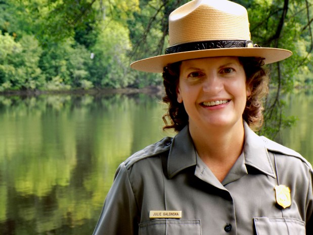 Julie Galonska has been tapped to be superintendent of St. Croix National Scenic Riverway. Galonska, 48, of Osceola, Wis., was the park's chief of interpretation, education and cultural resource management and had been serving as the acting Superintendent since February 2016. She is pictured in a photo taken on August 10, 2017, at the St. Croix River Visitor Center in St. Croix Falls, Wis. (Courtesy of the National Park Service)