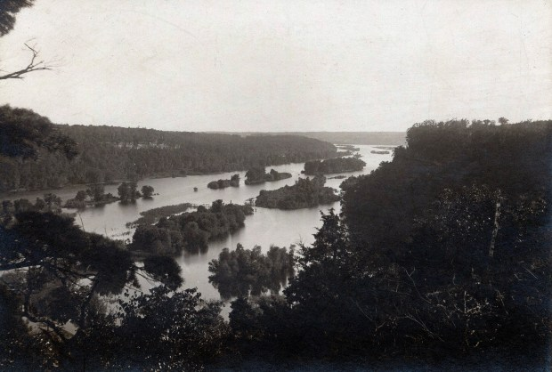 An undated black and white courtesy photo from the collection of the Washington County Historical Society shows the St. Croix River in 1915. The The St. Croix National Wild and Scenic Riverway is celebrating its 50th anniversary this year. The St. Croix River and its largest tributary, the Namekagon, were among the first recognized in 1968 when the Wild and Scenic Rivers Act become law. This early photo of the river is part of the collection owned by the Washington County Historical Society. (Courtesy of Washington County Historical Society)