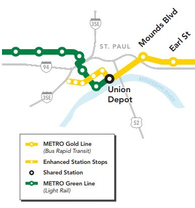 New gold line plan adds st paul loop woodbury park and ride the loop would run from union depot north to sixth street then west at smith avenue it would turn around and return via fifth street publicscrutiny Gallery