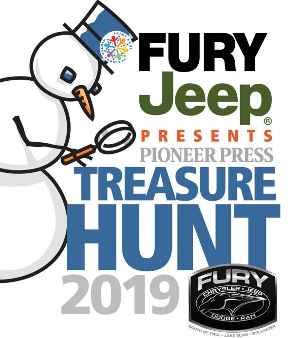 2019 Pioneer Press Treasure Hunt logo