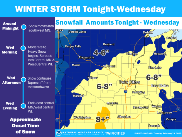 Snow total predictions increased; Wednesday morning's commute could be difficult