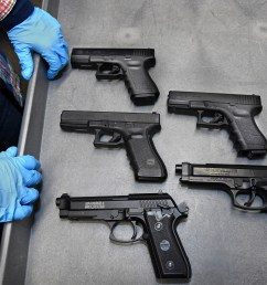 where is the real gun asks st paul police sgt tina kill as she shows her service duty weapon along with four real looking bb guns that were collected  [ 3600 x 2378 Pixel ]