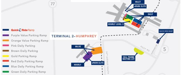 MSP airport parking map