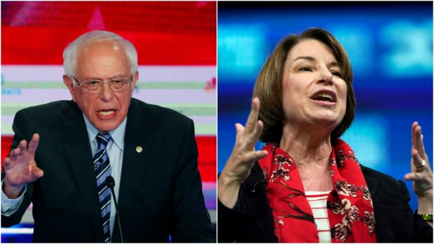 Bernie Sanders Amy Klobuchar