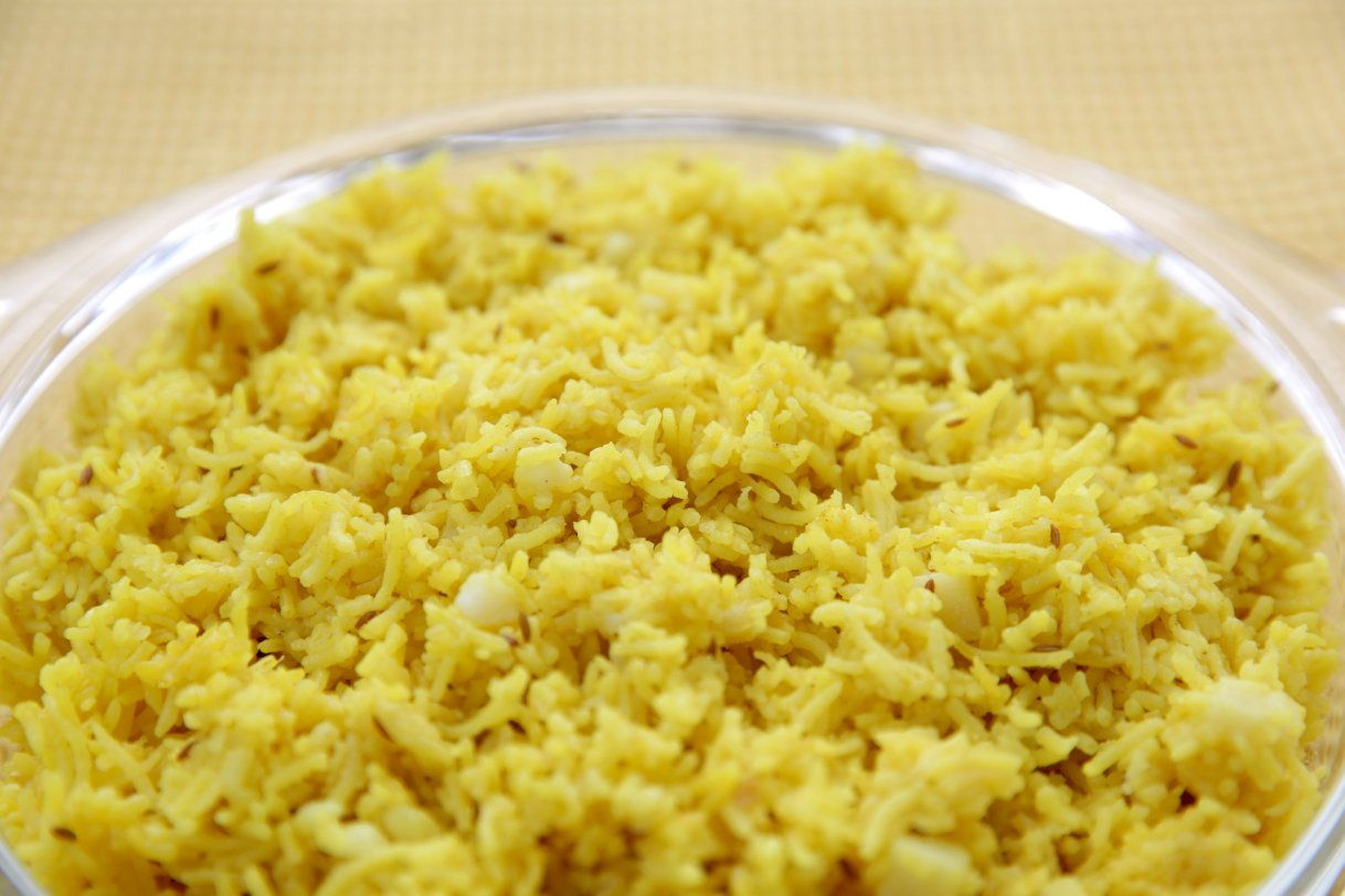 Yellow Rice With Potato and Cumin, Wednesday, July 21, 2021. (Hillary Levin/St. Louis Post-Dispatch/TNS)