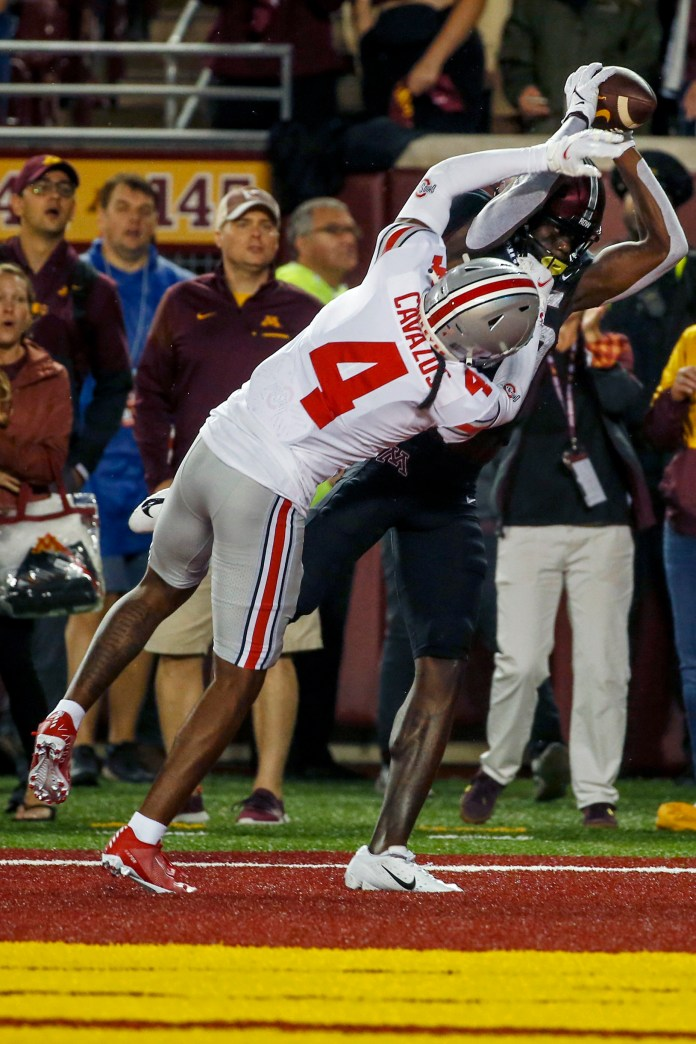 The Gophers couldn't fall behind Ohio State by 45-31