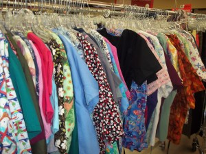 Thrift Store Shopping deals on uniforms