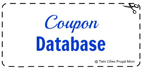 Coupon Database Twin Cities Frugal Mom