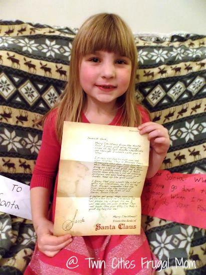 Heidi with Santa letter