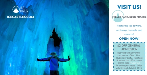 Ice Castles 2 Off Coupon Twin Cities Frugal Mom