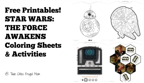 Free Printables! STAR WARS: THE FORCE AWAKENS Coloring