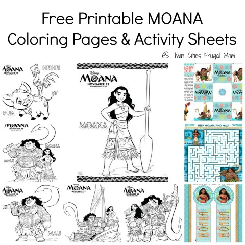Free Printables: Disney Moana Coloring Pages - Comic Con Family | 480x480