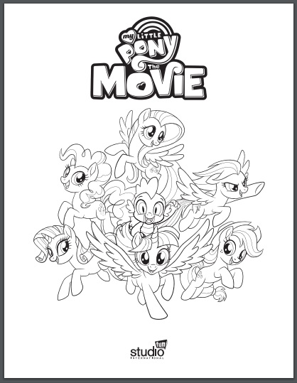My Little Pony Coloring Pages Com. Click image to print coloring pages  Free Printable My Little Pony The Movie Coloring Pages Twin