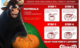 Free FERDINAND Printable Coloring Sheets & Pumpkin Carving Stencils