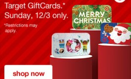 10% Off Target Gift Cards on Sunday, December 3rd