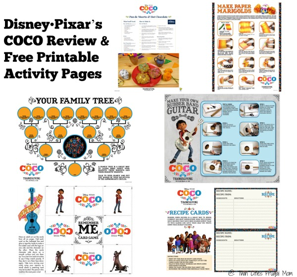 disney pixar s coco review free printable activity pages twin