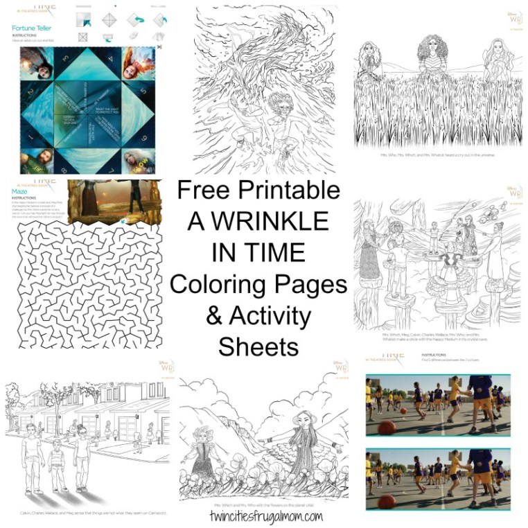 Disneys A WRINKLE IN TIME Opens In Theatres This Friday March 9th And I Have Some FREE Printable Coloring Pages Activity Sheets