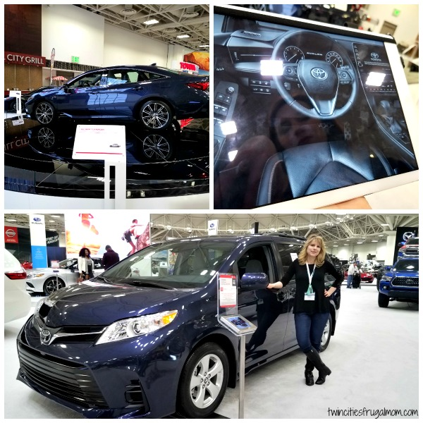 Checking out Toyotas at the Twin Cities Auto Show