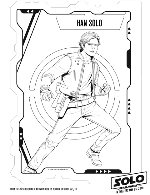 Solo A Star Wars Story Han Solo Coloring Sheet