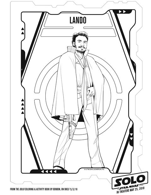 Solo A Star Wars Story Lando Coloring Page