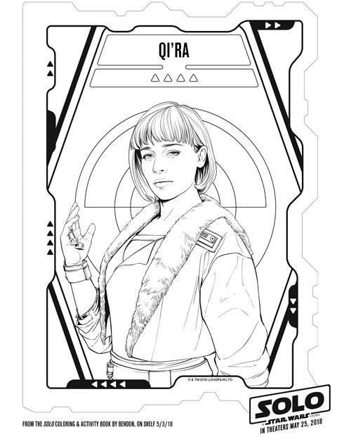 Solo a Star Wars Story Qi'Ra Coloring Page