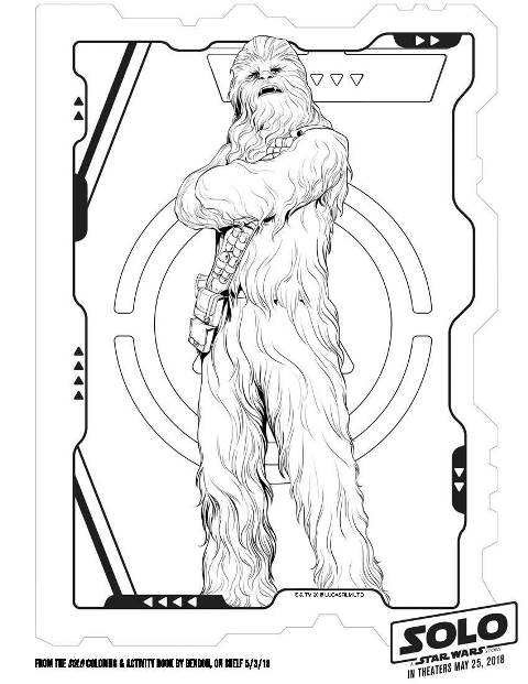 Solo A Star Wars Story Wookie Coloring Page