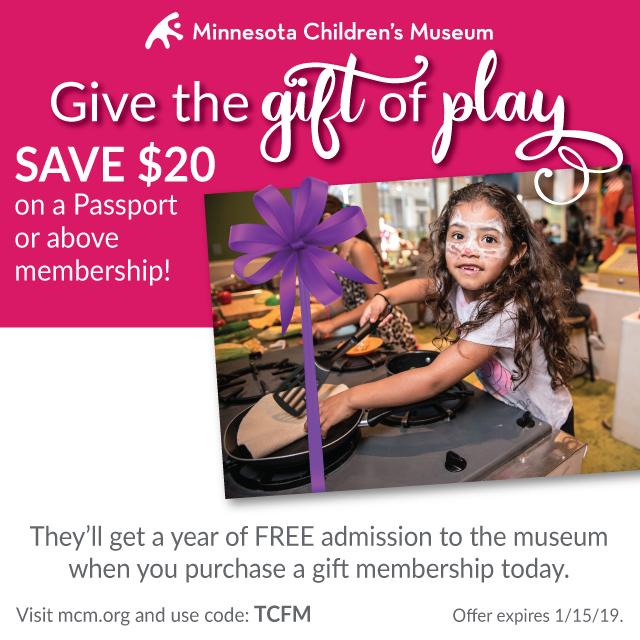 Minnesota Children's Museum membership discount 2018