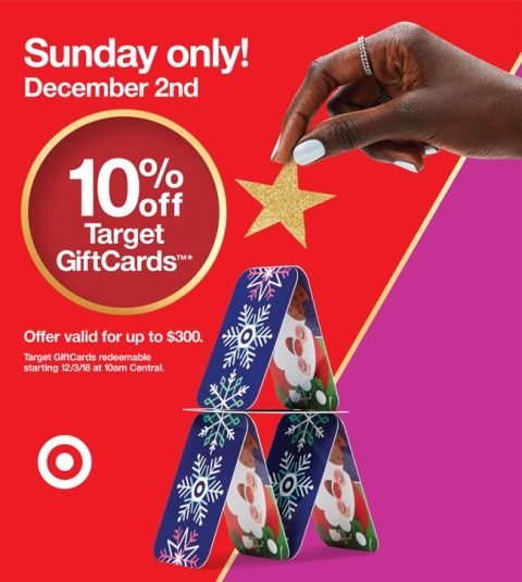 Target 10% Off Gift Cards