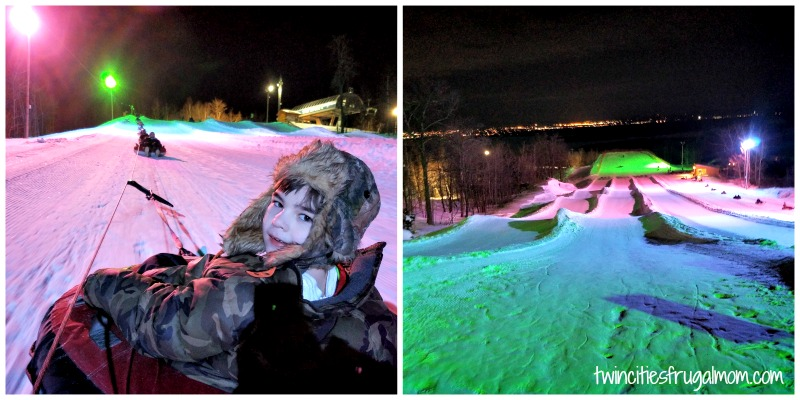 Spirit Mountain Glow Tubing Fun