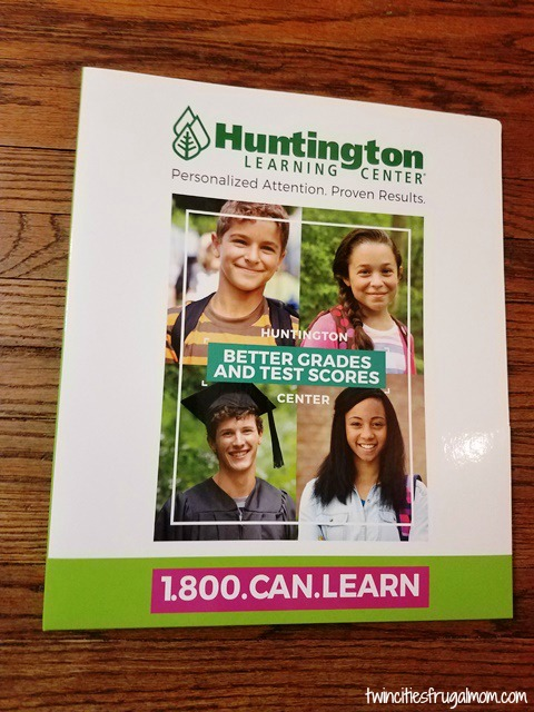 Huntington Learning Center binder