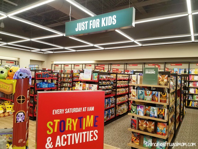 Kids section inside of Barnes & Noble Prototype Store