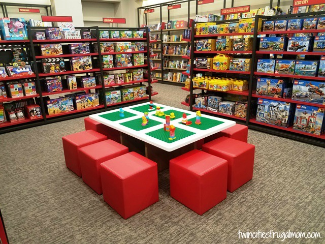 Lego Table for kids in Barnes & Noble