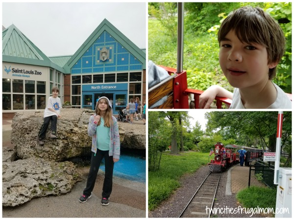The St. Louis Zoo and train