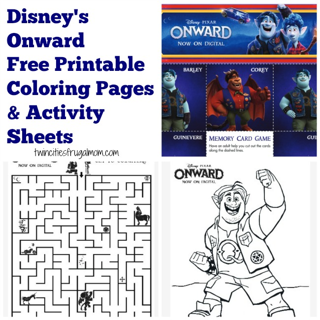Disney's Onward Free Printables