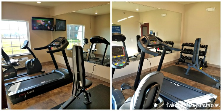 Cobblestone Suites fitness room