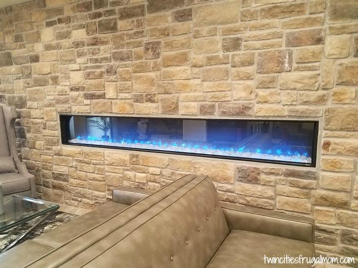 Cobblestone Suites lobby fire
