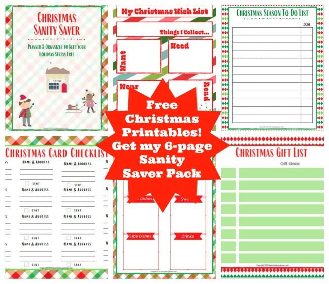 Free Christmas Sanity Saver Pack