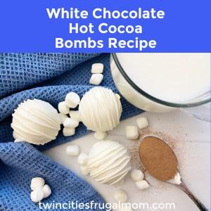 White Chocolate Hot Cocoa Bombs Recipe