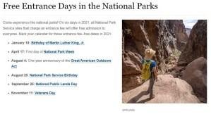 Free NPS Days 2021
