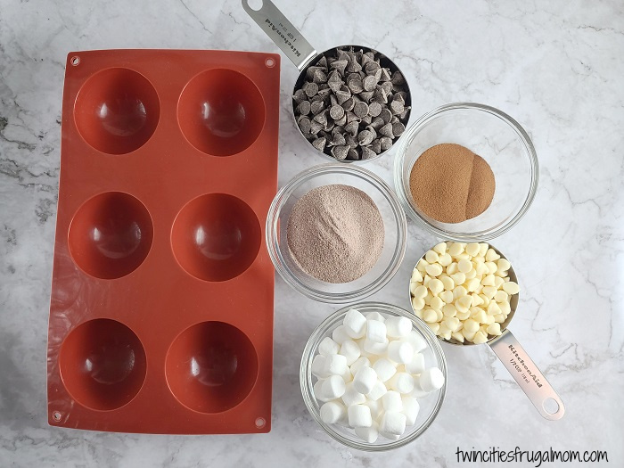 Mocha Hot Chocolate Bombs Ingredients
