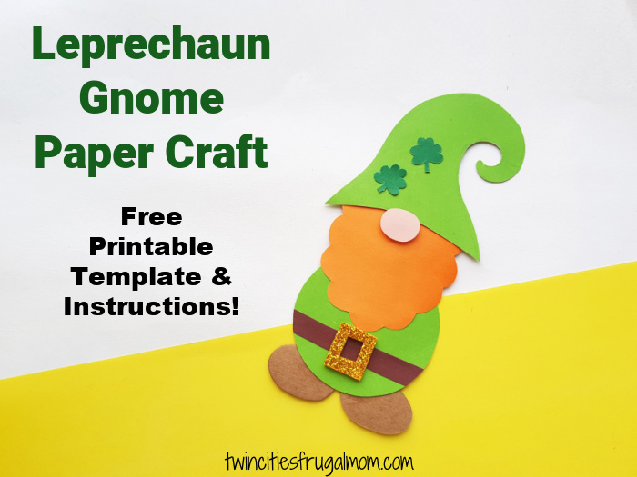 Leprechaun Gnome Paper Craft