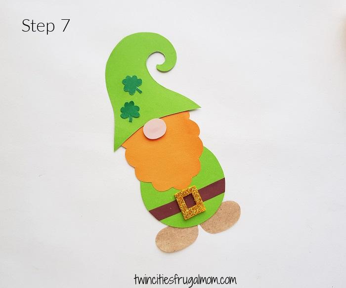 Leprechaun Gnome Paper Craft Step 7