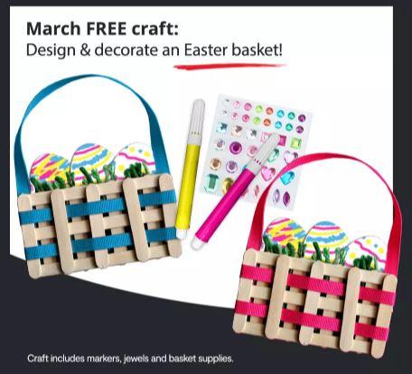 JCPenney Easter Basket Craft