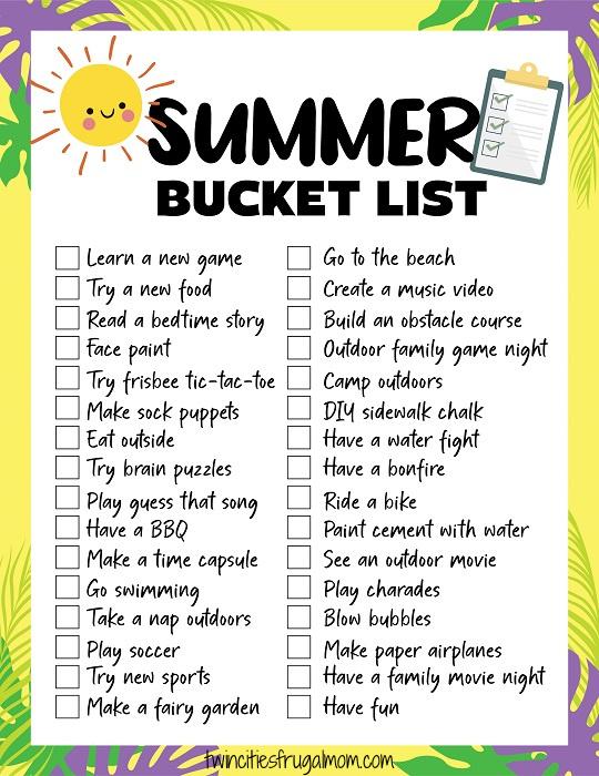 TCFM Summer Bucket List