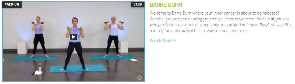 Barre Burn Get Healthy U