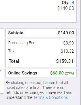 Valleyfair tickets