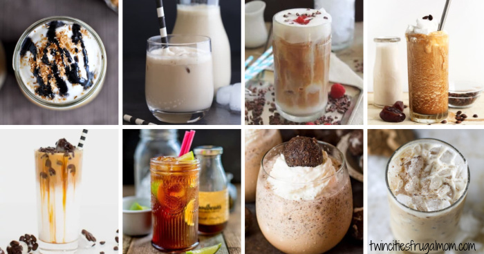 20 refreshing iced coffee recipes collage