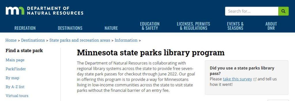 Minnesota State Parks Library Program