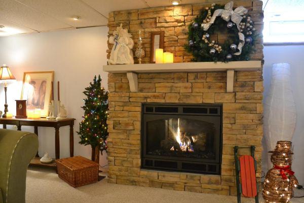 Basement Gas Fireplace